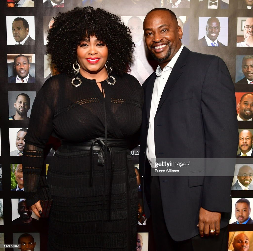 Jill Scott and Mike Dobson attend 'The Made Man Awards 2017' at 595 North on January 26, 2017 in Atlanta, Georgia.