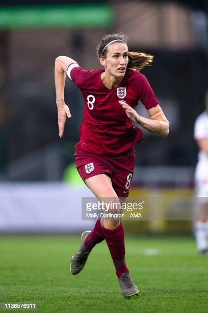 Jill Scott of England during the International Friendly between England Women and Spain Women at County Ground on April 9, 2019 in Swindon, England.