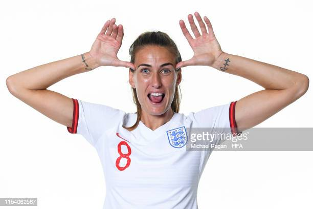 Jill Scott of England poses for a portrait during the official FIFA Women's World Cup 2019 portrait session at Radisson Blu Hotel Nice on June 06...