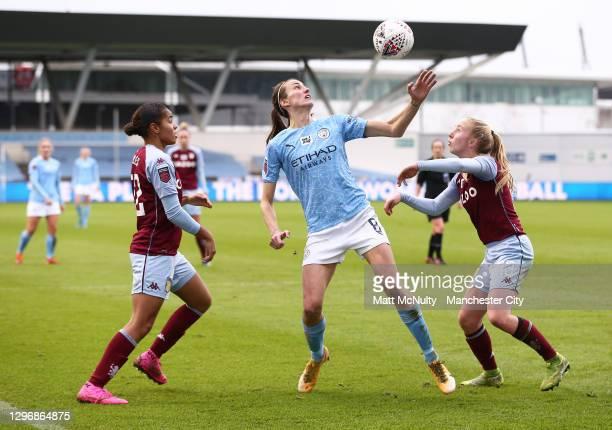 Jill Scott of Manchester City during the Barclays FA Women's Super League match between Manchester City Women and Aston Villa Women at Manchester...