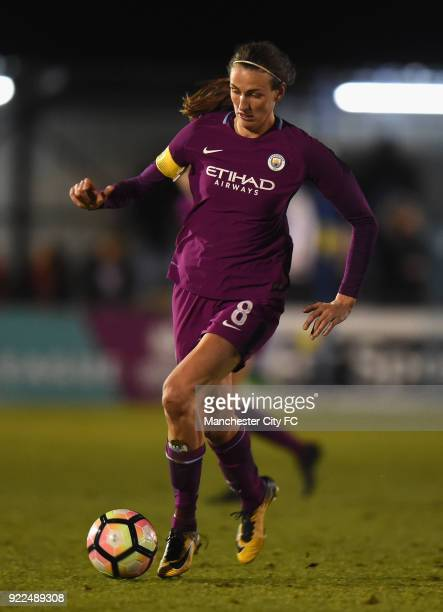 Jill Scott of Manchester City Women during the WSL match between Birmingham City Ladies and Manchester City Women at Damson Park on February 21 2018...