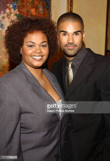 Jill Scott Shemar Moore during 8th Annual Soul Train Lady of Soul Awards Nominations at Spago Restaurant in Beverly Hills California United States