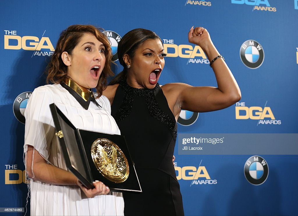 Jill Soloway and Taraji P. Henson pose in the press room at the 67th Annual Directors Guild Of America Awards at the Hyatt Regency Century Plaza on February 7, 2015 in Century City, California.