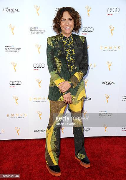 Jill Soloway attends the Television Academy's celebration for the 67th Emmy Award nominees for outstanding performances at Pacific Design Center on...