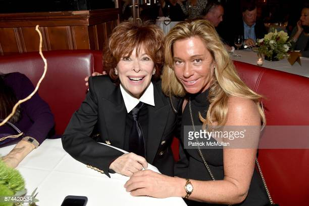 Jill St. John and Linda Poll attend NINETY YEARS OF GALLAGHERS New York's iconic steakhouse at Gallaghers Steakhouse on November 14, 2017 in New York...