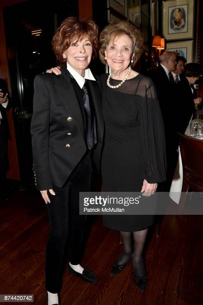 Jill St. John and Matilda Cuomo attend NINETY YEARS OF GALLAGHERS New York's iconic steakhouse at Gallaghers Steakhouse on November 14, 2017 in New...