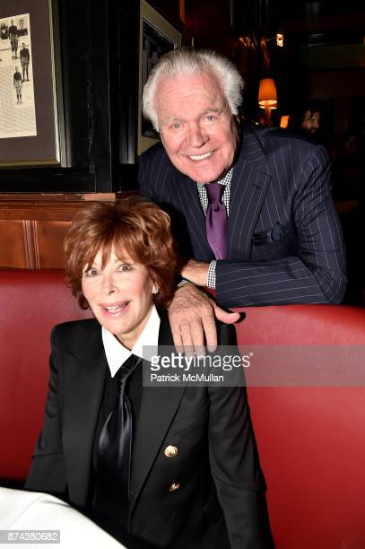 Jill St. John and Robert Wagner attend NINETY YEARS OF GALLAGHERS New York's iconic steakhouse at Gallaghers Steakhouse on November 14, 2017 in New...