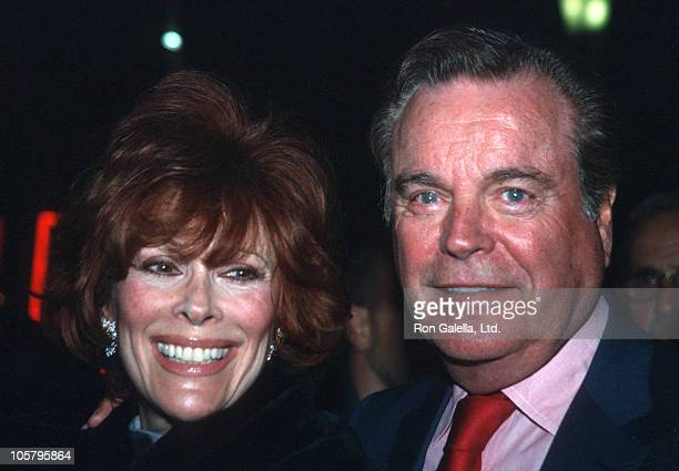 Jill St John and Robert Wagner during Performance of Hairspray at Neil Simon Theater in New York City New York United States