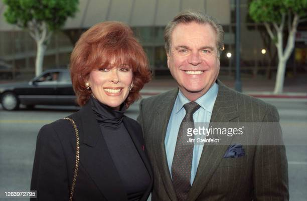 Jill St. John and Robert Wagner pose for a portrait in Los Angeles, California in 1997.