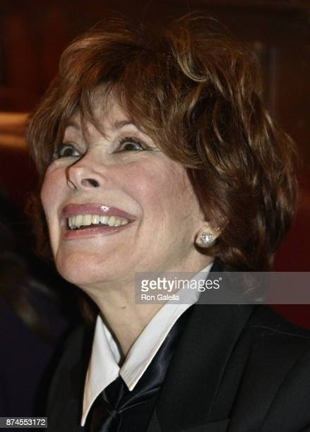 Jill St. John attends Gallagher's Steakhouse 90th Anniversary Celebration on November 14, 2017 at Gallagher's Steakhouse in New York City.