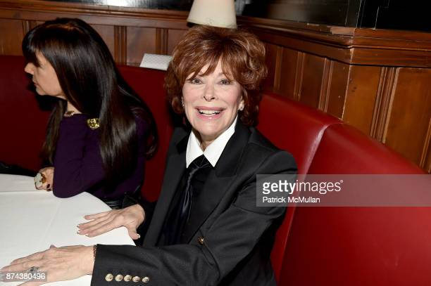 Jill St. John attends NINETY YEARS OF GALLAGHERS New York's iconic steakhouse at Gallaghers Steakhouse on November 14, 2017 in New York City.