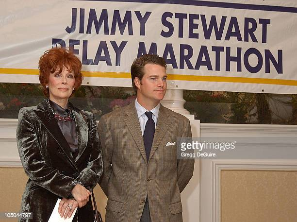 Jill St John Chris O'Donnell during 22nd Annual Jimmy Stewart Relay Marathon VIP Kickoff Reception at Hotel Bel Air in Bel Air California United...