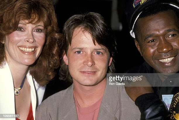 Jill St. John, Michael J. Fox, and Ben Vereen during Universal Studios Private Party at the Grand Cypress Resort - June 6, 1990 at Grand Cyprus...