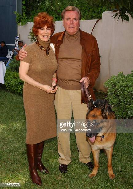 "Jill St John Robert Wagner and their dog Larry during Silver Spoon Dog and Baby Buffet"" Benefitting Much Love Animal Rescue Day One at Private..."
