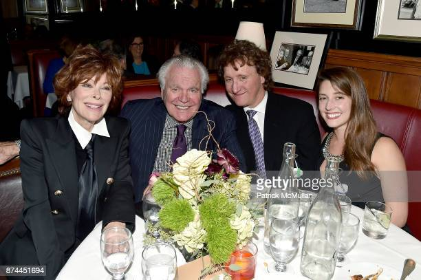 Jill St. John, Robert Wagner, Tod Oroff and Emily Moulton attend NINETY YEARS OF GALLAGHERS New York's iconic steakhouse at Gallaghers Steakhouse on...