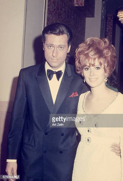 Jill St John with Jack Jones at a formal event circa 1970 New York