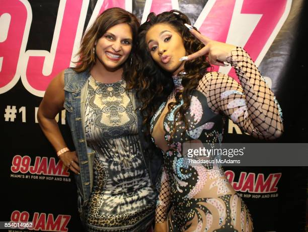 Jill Strada and Cardi B pose backstage at Revolution Live on September 25 2017 in Fort Lauderdale Florida