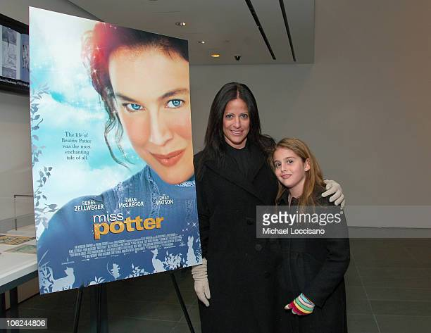 Jill Stuart and Daughter Sophia Stuart during Miss Potter Special Private Screening at MoMA Theatre in New York City New York United States