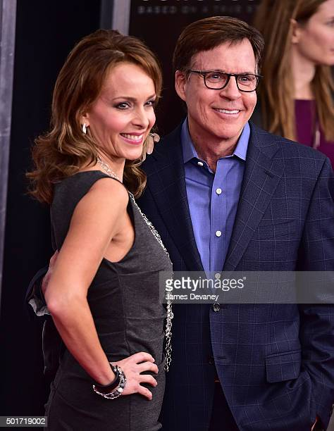 Jill Sutton and Bob Costas attend the Concussion premiere at AMC Loews Lincoln Square on December 16 2015 in New York City