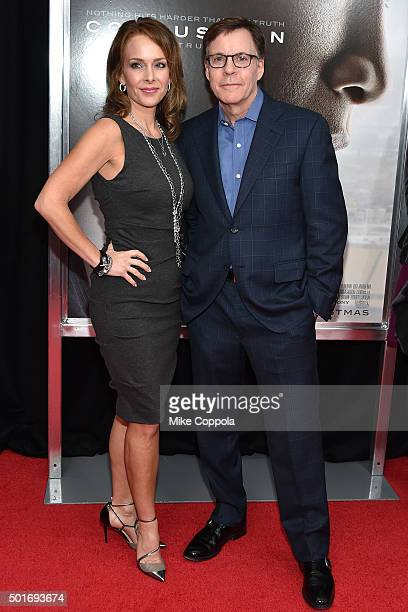 Jill Sutton and Bob Costas attend theConcussion New York Premiere at AMC Loews Lincoln Square on December 16 2015 in New York City