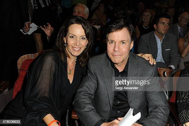 Jill Sutton Costas and Bob Costas attend the An Unbreakable Bond premiere during the Miami International Film Festival 2014 at Gusman Center for the...