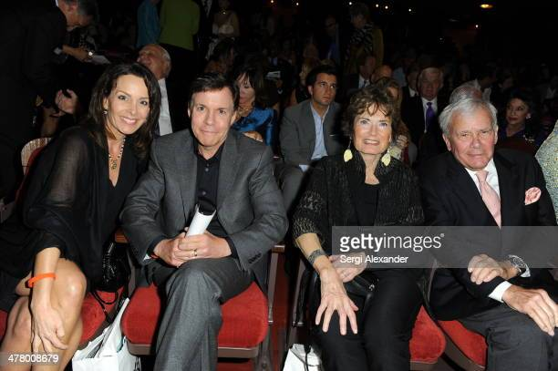 Jill Sutton Costas Bob Costas Meredith Brokaw and Tom Brokaw attend the An Unbreakable Bond premiere during the Miami International Film Festival...
