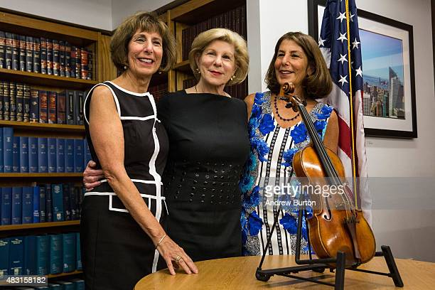 Jill Totenberg Nina Totenberg and Amy Totenberg view their father's Stadivarius violin which was stolen after a concert 35 years ago at an FBI press...