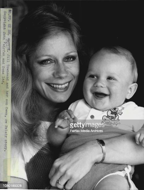 Jill Townsend and her son Owen the result of a De Facto relationship with dead pilot of the pelair jet that crashed off Botany Bay Owen Jackson...