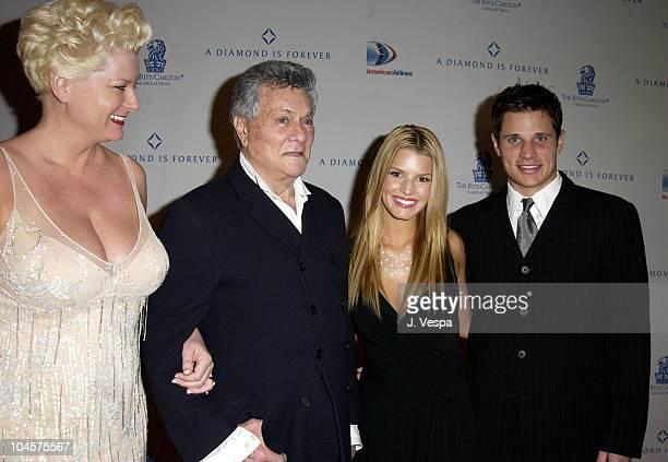 Jill Vandenberg, Tony Curtis, Jessica Simpson and Nick Lachey