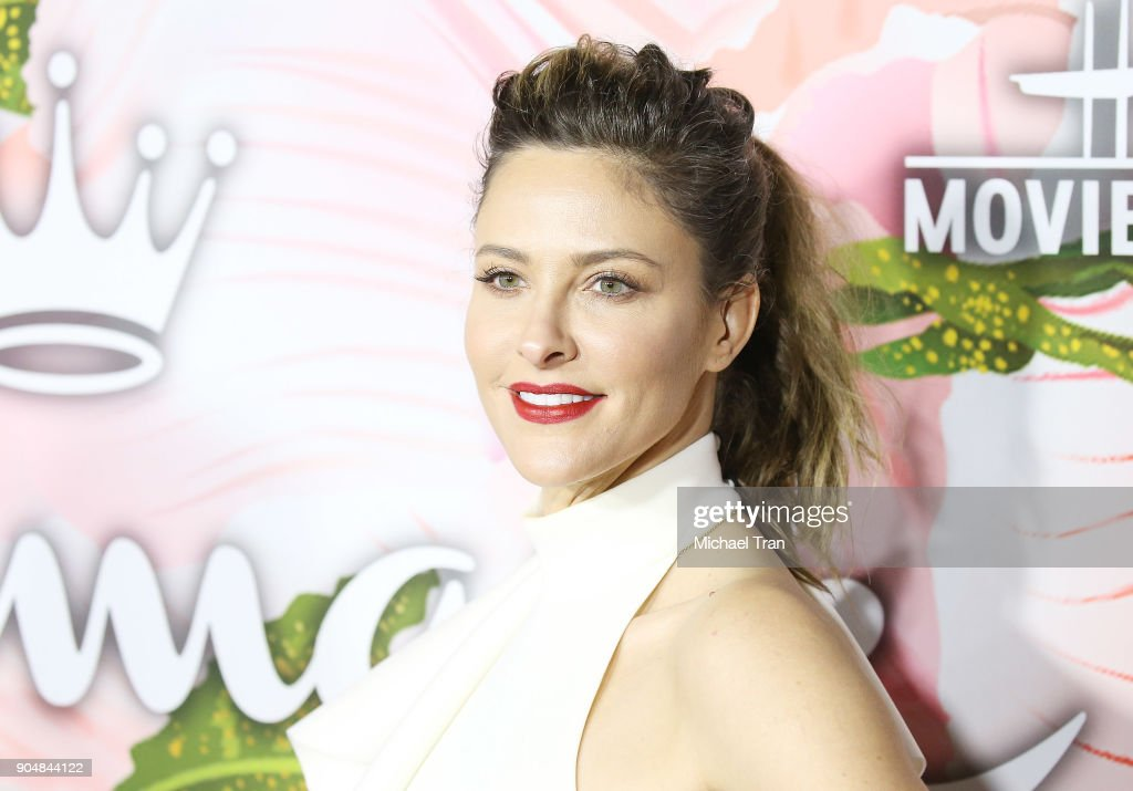 Jill Wagner arrives to the Hallmark Channel and Hallmark Movies and Mysteries Winter 2018 TCA Press Tour held at Tournament House on January 13, 2018 in Pasadena, California.