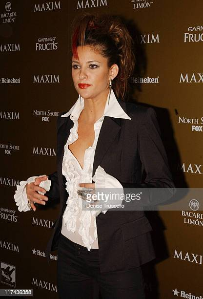 Jill Wagner during Maxim Magazine Hot 100 Party in Celebration of the Grand Opening of Body English In the Hard Rock Hotel Casino Red Carpet at Hard...