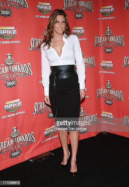 Jill Wagner during Spike TV's 'Scream Awards 2006' Arrivals at Pantages Theater in Hollywood California United States