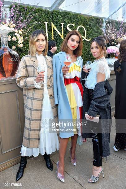 Jill Wallace Annabelle Fleur and guest attend JNSQ Rose Cru debuts alongside Rodarte FW/19 Runway Show at Huntington Library on February 5 2019 in...
