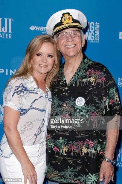 Jill Whelan and Gavin MacLeod attend Clayton Kershaw's 7th Annual Ping Pong 4 Purpose at Dodger Stadium on August 08, 2019 in Los Angeles, California.