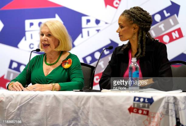 Jill WineBanks and Maya Wiley speak onstage during the 2019 Politicon at Music City Center on October 26 2019 in Nashville Tennessee