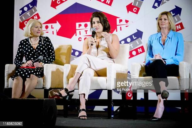 Jill WineBanks Lauren Duca and Danielle Crittenden speak onstage during day 2 of Politicon 2019 at Music City Center on October 27 2019 in Nashville...
