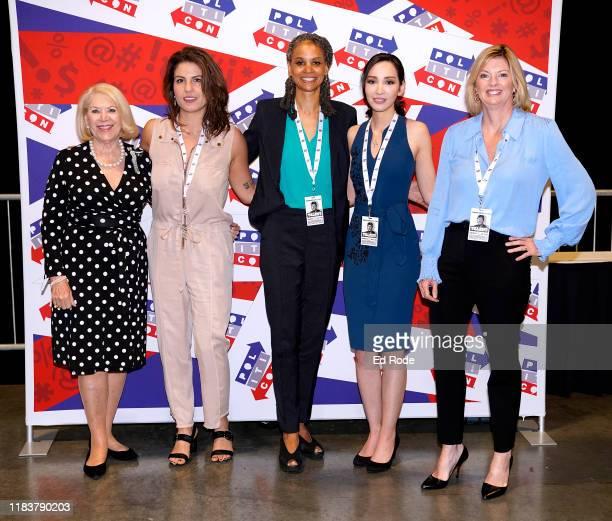 Jill WineBanks Lauren Duca Maya Wiley Lauren Chen and Danielle Crittenden of Femsplainers attend day 2 of Politicon 2019 at Music City Center on...