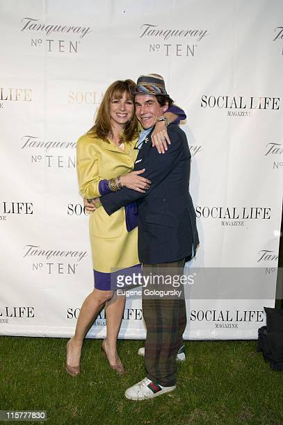 Jill Zarin and Couri Hay attend The Social Life Magazine June Release Hosted By Whitney Port By SARAR And Peroni May 24 2008 in Water Mill New York