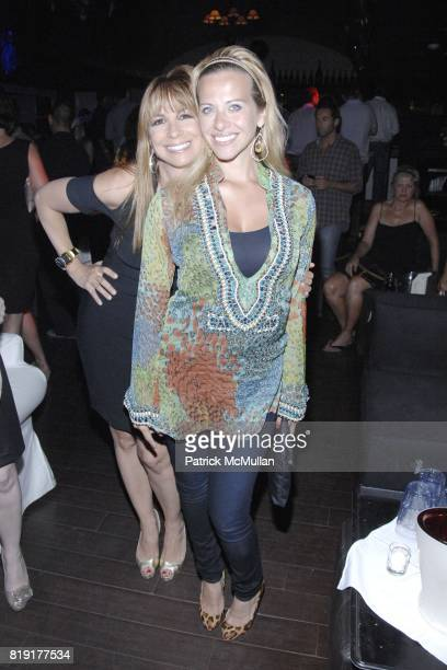 Jill Zarin and Dina Manzo attend Nic Roldan Shamin Abas and Tracy Mourning Host Hamptons Social Series Dinner For St Jude's at Lily Pond on July 24...