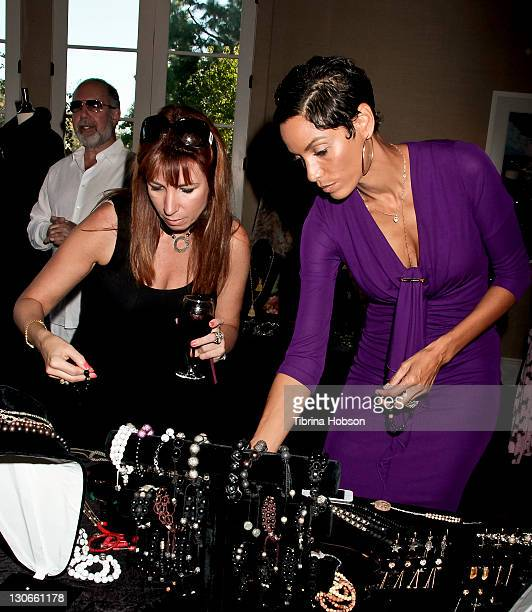 Jill Zarin and Nicole Murphy attend the 2011 Starlight Children's Foundation's Design and Wine Fundraiser at Kathy Hilton's residence on October 23,...