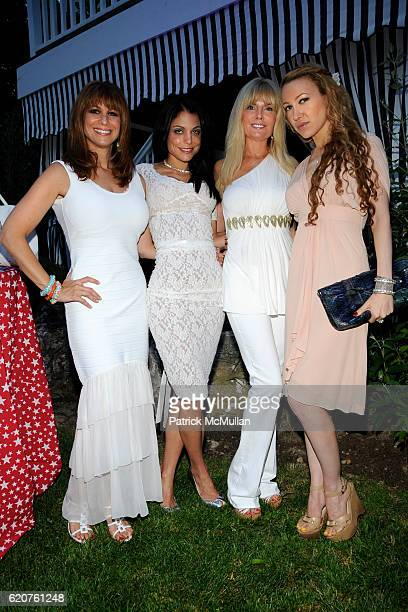 Jill Zarin Bethenny Frankel Coleen Rein and Devorah Rose attend JILL BOBBY ZARIN 4th of July Party at Zarin Home on July 4 2008 in Southampton NY