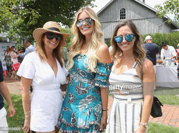 Jill Zarin, Lauren Wirkus and Sarah Billstein attend The Inaugural Hamptons Interactive Influencer Brunch Hosted By East End Taste Produced By...