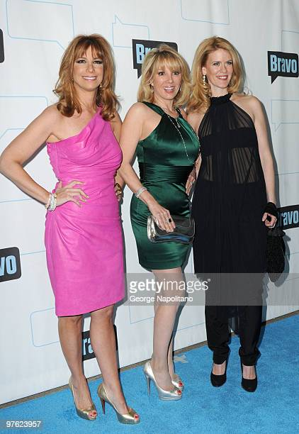Jill Zarin Ramona Singer and Alex McCord attends Bravo's 2010 Upfront Party at Skylight Studio on March 10 2010 in New York City
