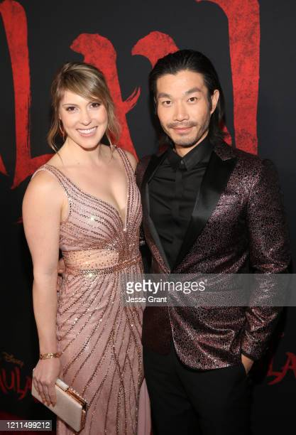 Jillana Darby and Nelson Lee attend the World Premiere of Disney's 'MULAN' at the Dolby Theatre on March 09 2020 in Hollywood California