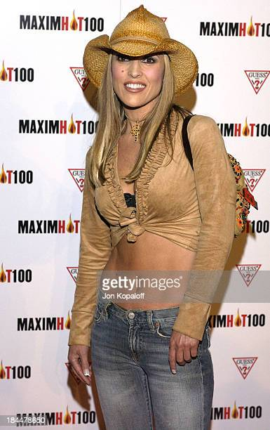 Jillian Barberie during Maxim Hot 100 Party Arrivals at Yamashiro in Hollywood California United States