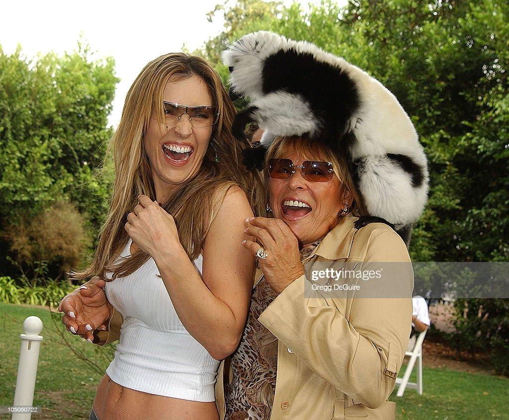 Jillian Barberie, Martine Colette, Founder & Director of the Wildlife Waystation, & Boo the Lemur