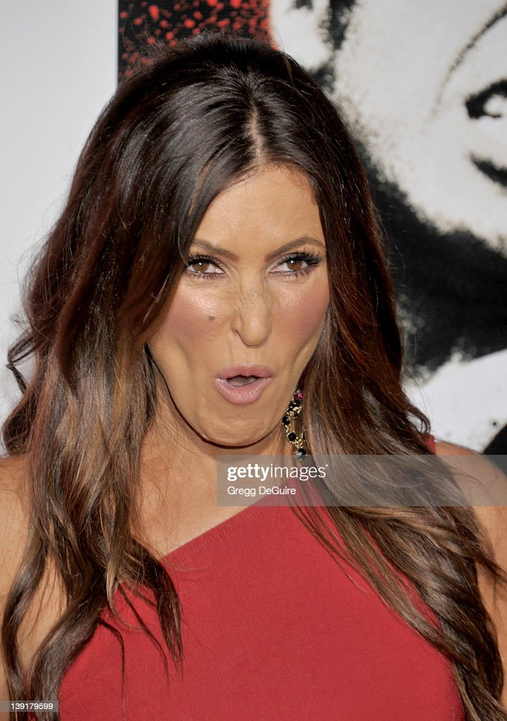 Jillian Barberie Reynolds arrives at the launch of 'Scarface' on Blu-Ray at the Belasco Theater on August 23, 2011 in Los Angeles, California.
