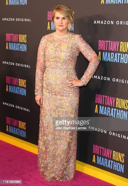 Jillian Bell attends the premiere of Amazon Studios' Brittany Runs A Marathon at Regal LA Live on August 15 2019 in Los Angeles California