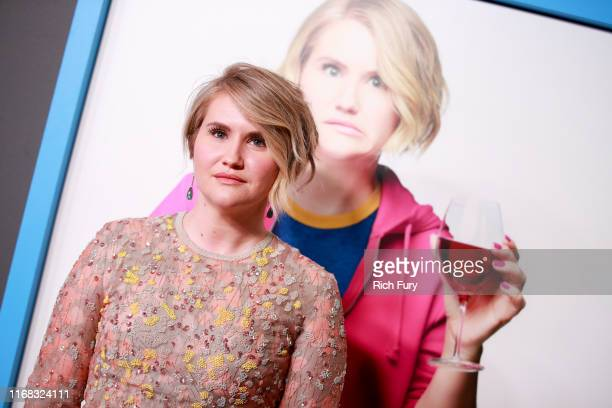 Jillian Bell attends the premiere of Amazon Studios' Brittany Runs A Marathon at Regal LA Live on August 15 2019 in Los Angeles California