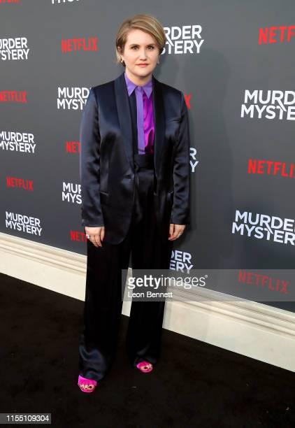 Jillian Bell attends the LA premiere of Netflix's Murder Mystery at Regency Village Theatre on June 10 2019 in Westwood California